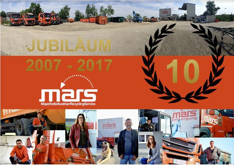 Mars 10 Jahre Jubiläum